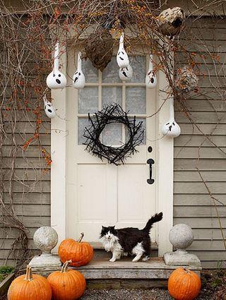 Decorar puerta para Halloween
